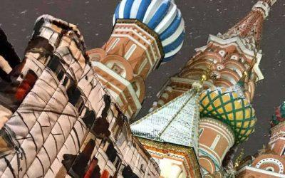 Les toits de Paris sur la place Rouge